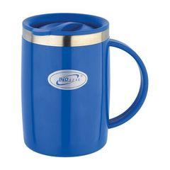 Кружка Biostal Flër (0,5 литра) с крышкой, синяя NE-500-BL