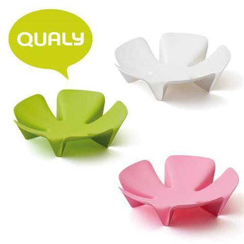 Ваза для фруктов flower зеленая QL10041-GN