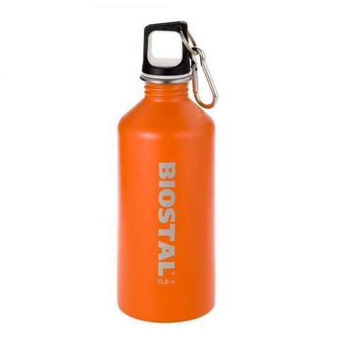 Бутылка Biostal Flër (0,75 литра) пробка с карабином, оранжевая NS-750-O