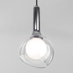 Подвесной светильник со стеклянным плафоном Eurosvet Fantasy 50188/1 хром
