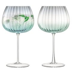 Набор из 2 круглых бокалов Dusk 650 мл зелёный-серый LSA International G1443-23-151