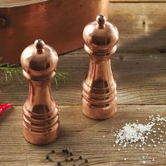 Мельница для соли деревянная с медным покрытием 16,5 см BISETTI Rame 5150MSRAL