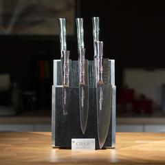Комплект из 6 ножей Samura BAMBOO и черной подставки