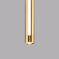 Подвесной светодиодный светильник Eurosvet Strong 50189/1 LED черный/золото