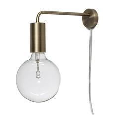 Лампа настенная Cool, античная латунь, матовая Frandsen 4043184011