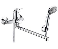 Isen 2602L Смеситель для ванны с длинным изливом WasserKRAFT Серия Isen 2600