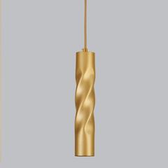 Подвесной светодиодный светильник Eurosvet Scroll 50136/1 LED золото