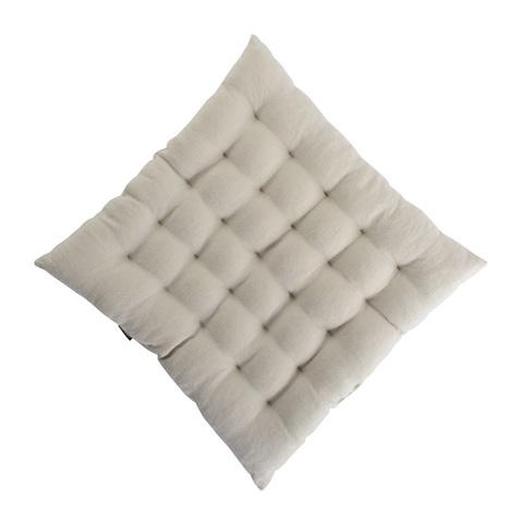 Стеганная подушка на стул из умягченного льна бежевого цвета Tkano TK18-CP0005