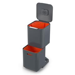 Контейнер для мусора с двумя баками Totem Compact 40 л графит Joseph Joseph 30065