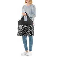 Сумка складная Mini maxi shopper plus signature black Reisenthel AV7054