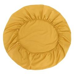 Простыня круглая на резинке из сатина горчичного цвета из коллекции Essential, 75х75х20 см Tkano TK20-KIDS-FS0033