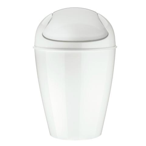 Корзина для мусора с крышкой DEL M, 12 л, белая Koziol 5775525
