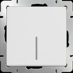 Выключатель одноклавишный проходной с подсветкой (белый) WL01-SW-1G-2W-LED Werkel