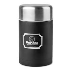 Термос для еды 0,8л с внутр.контейнером 0,35л Rondell Picnic Black RDS-946