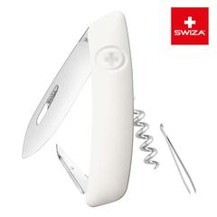Швейцарский нож SWIZA D01 Standard, 95 мм, 6 функций, белый KNI.0010.1020