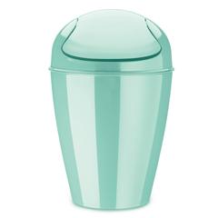 Корзина для мусора с крышкой DEL M, 12 л, мятная Koziol 5775667
