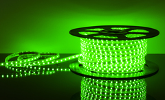 Светодиодная лента LSTR003 220V 14,4W IP65 зеленый Elektrostandard
