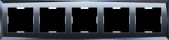 Рамка на 5 постов  (черный) WL08-Frame-05 Werkel