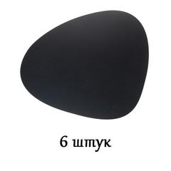 Комплект из 6 подстановочных салфеток 37x44 см LindDNA Bull black 9870