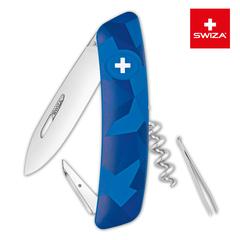 Швейцарский нож SWIZA C01 Camouflage, 95 мм, 6 функций, синий KNI.0010.2030