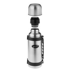 Термос Biostal (1,5 литра) с ручкой, стальной NY-1500-2