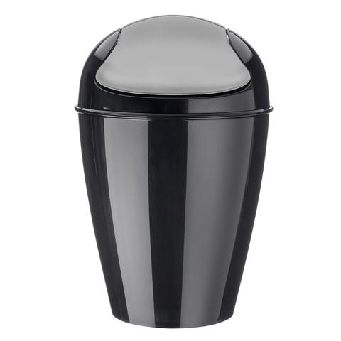 Корзина для мусора с крышкой DEL M, 12 л, чёрная Koziol 5775526