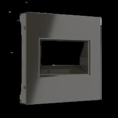 Накладка для двойной розетки Еthernet RJ-45 (серо-коричневый) WL07-RJ45+RJ45-CP Werkel