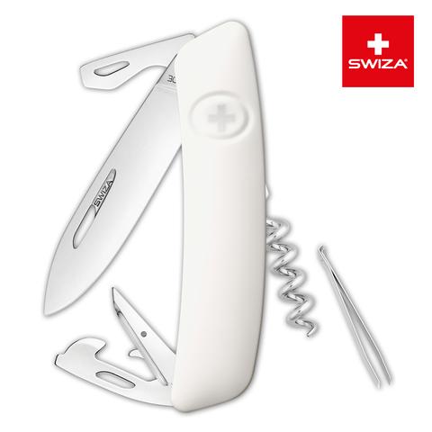 Швейцарский нож SWIZA D03 Standard, 95 мм, 11 функций, белый MV-KNI.0030.1020