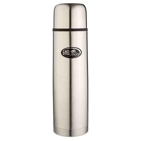 Термос Biostal (1 литр) 2 пробки, стальной