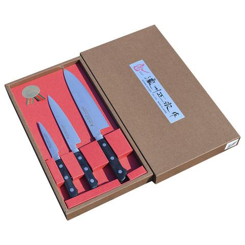 Набор из 3 кухонных ножей (69 слоев) SATAKE DAMASCUS HG8550