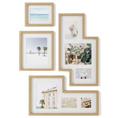 Набор из 4 фоторамок Mingle Gallery дерево Umbra 1015592-1104