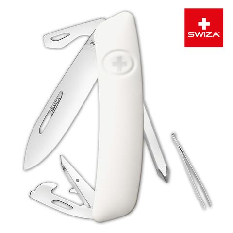 Швейцарский нож SWIZA D04 Standard, 95 мм, 11 функций, белый MV-KNI.0040.1020
