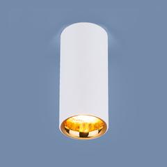 Накладной потолочный  светодиодный светильник DLR030 12W 4200K белый матовый/золото Elektrostandard