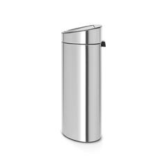 Двухсекционный мусорный бак Touch Bin New 10/23 л матовый с защитой от отпечатков пальцев Brabantia 112867