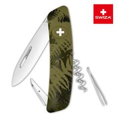 Швейцарский нож SWIZA C01 Camouflage, 95 мм, 6 функций, хаки KNI.0010.2050