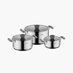Набор посуды со стеклянными крышками, 6 пр., NADOBA, серия KAMÍLA 727618
