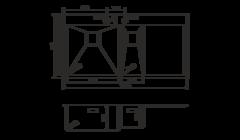 Кухонная мойка из нержавеющей стали OMOIKIRI Akisame 100-2-GM-L (4993103)