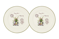 Набор из 2-х десертных тарелок Букет Anna Lafarg LF Ceramics 55546