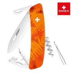 Швейцарский нож SWIZA C03 Camouflage, 95 мм, 11 функций, оранжевый KNI.0030.2060