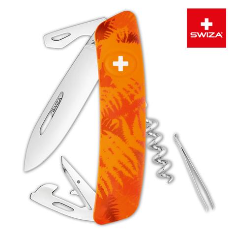 Швейцарский нож SWIZA C03 Camouflage, 95 мм, 11 функций, оранжевый MV-KNI.0030.2060