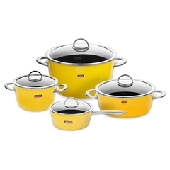 Набор посуды из 4 предметов KOCHSTAR NEO арт. YELLOW-2