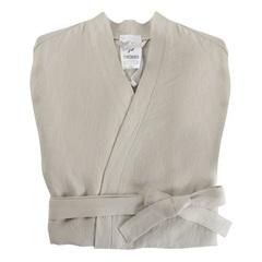 Халат из умягченного льна бежевого цвета Tkano TK18-BR0001