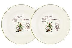 Набор из 2-х суповых  тарелок Букет Anna Lafarg LF Ceramics 55916