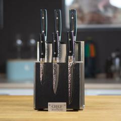 Комплект из 6 ножей (37 слоев) YAXELL Zen и подставки