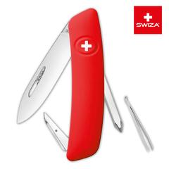 Швейцарский нож SWIZA D02 Standard, 95 мм, 6 функций, красный (блистер) KNI.0020.1001