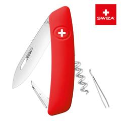 Швейцарский нож SWIZA D01 Standard, 95 мм, 6 функций, красный KNI.0010.1000