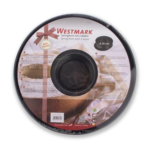 Форма для выпечки круглая, разъемная 26 см, с 2-мя основаниями, алюминий с антипригарным покрытием Westmark Baking арт. 31672240