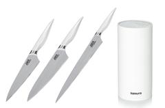 Комплект из 3 кухонных ножей Samura Joker и подставки 224544294