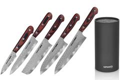 Набор из 5 кухонных ножей Samura KAIJU и браш-подставки 77435203