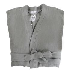 Халат из умягченного льна серого цвета Tkano TK18-BR0004